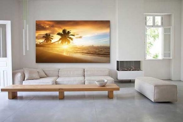 Tableau déco paysage Palmiers