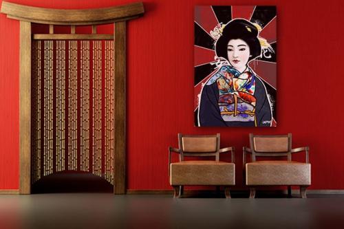 Tableau contemporain Geisha par Damien Seppoloni