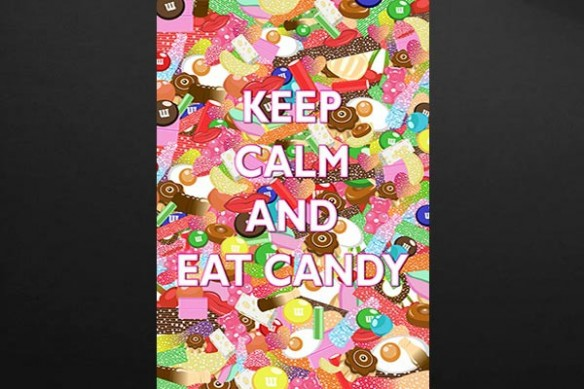 Tableau déco cuisine Keep Calm and Eat Candy