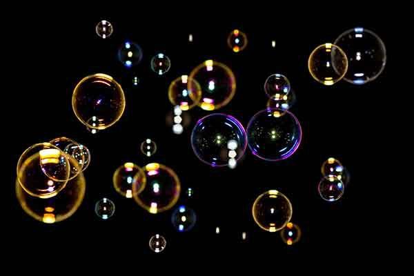 Deco Chambre Zen Vert : Tableau déco petites bulles de savon izoa