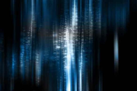 Tableau abstrait Bleu intense