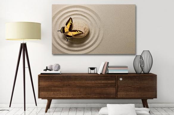 Tableau déco Papillon Zen
