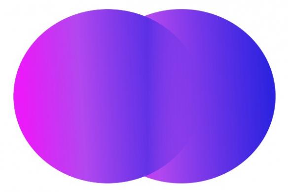 Tableau déco Double cercles violet