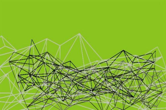 abstrait Coma vert