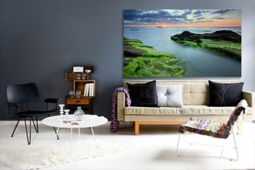 déco mur salon Couché de Soleil Marin