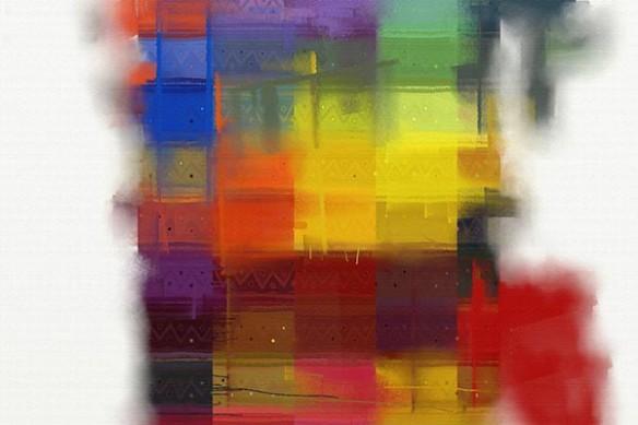 Toile abstraite Multicouleurs