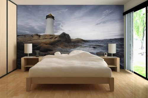 papier peint design phare izoa. Black Bedroom Furniture Sets. Home Design Ideas