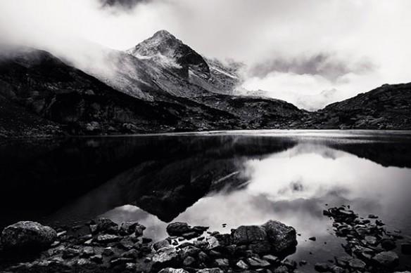 déco mural noir et blanc Lac Rila
