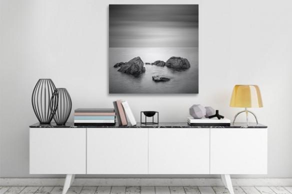 Tableau noir et blanc Paysage Mystérieux