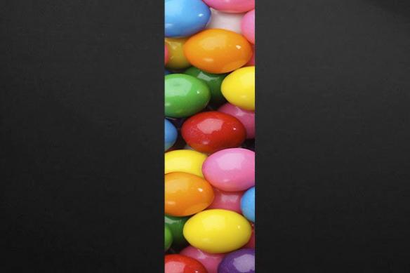 Papier peint déco Boules de Gommes