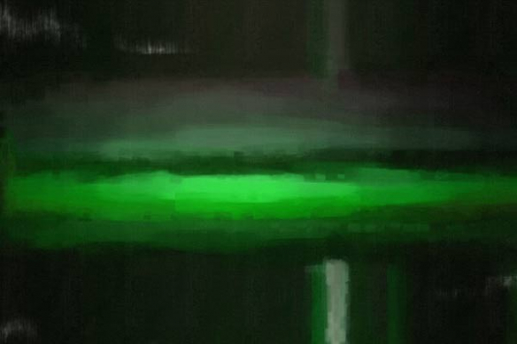 Tableau contemporain Caramel vert