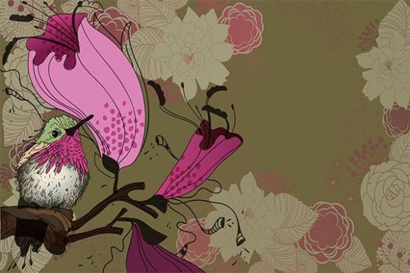 colibri fleuri