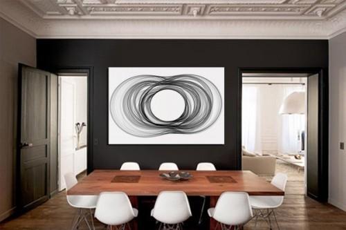 Tableau abstrait Filament noir