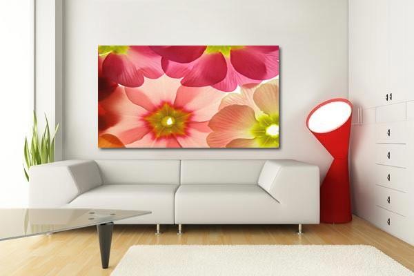 tableau de fleurs toile tendue murale design. Black Bedroom Furniture Sets. Home Design Ideas