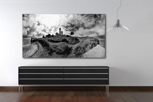 Tableau paysage noir et blanc Ile aux Corbeaux