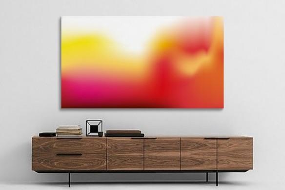déco salon Tableau contemporain abstrait Résonance rose