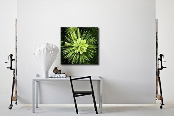 Tableau décoration plante pailletée