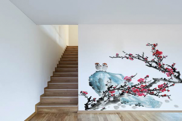 Décoration murale originale oiseaux