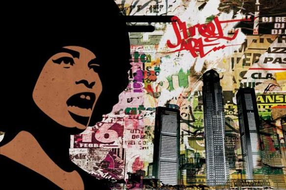 Tableau urbain design graffiti