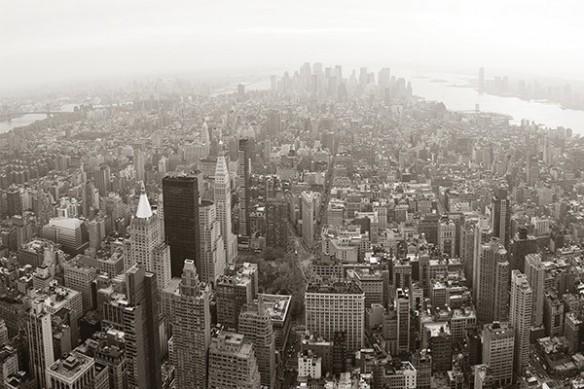 déco mur new york vue d'en haut