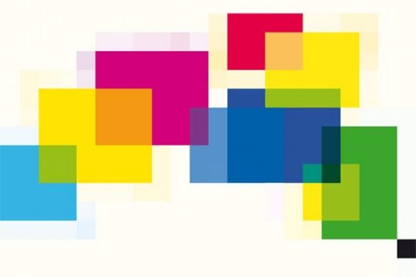carrés couleurs lego mural toile abstraite