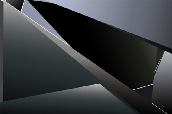 abstrait tableau contemporain metal noir carbone
