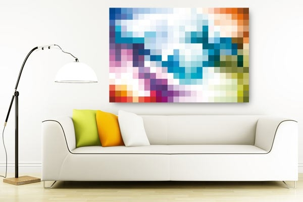 Tableau d coratif color pixel par jonathan berne izoa - Tableau colore design ...