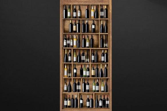 stickers porte bouteilles de vin