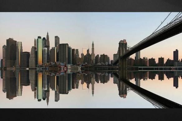 Toile déco murale pont new york