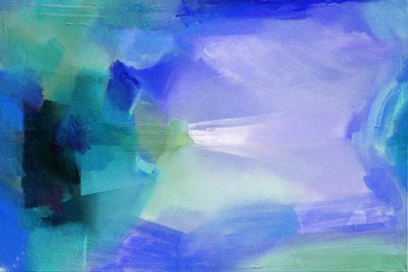 Toile design bleu ciel peinture numérique