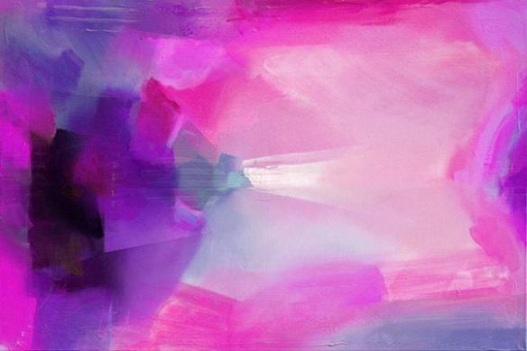 Décoration design toile rose