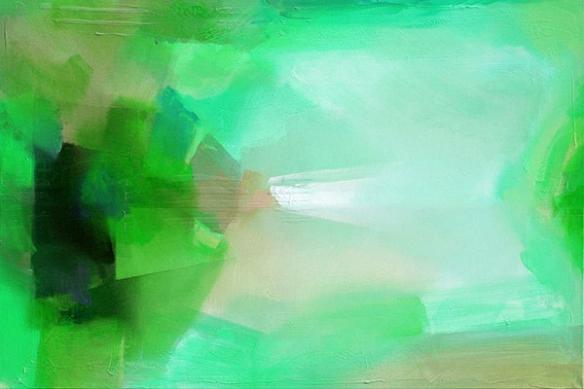 Tableau design déco salon vert