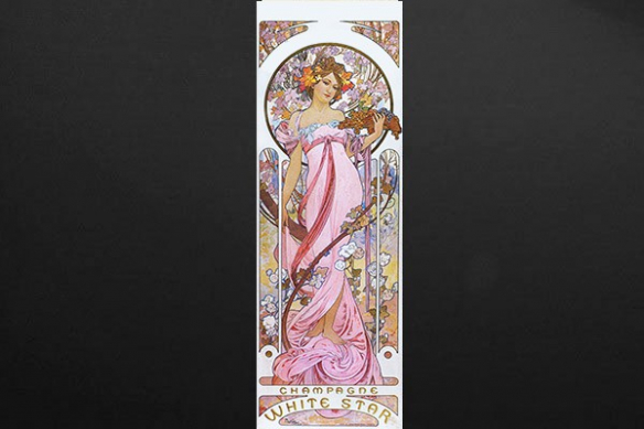 Décoration murale femme déesse champagne