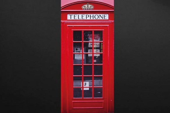 déco londres cabine téléphonique rouge