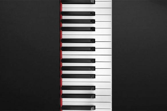 décoration design clavier de piano