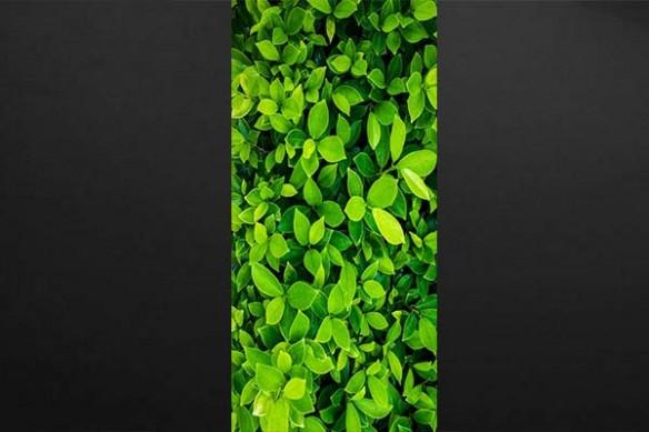 Sticker déco trompe l'oeil mur végétal