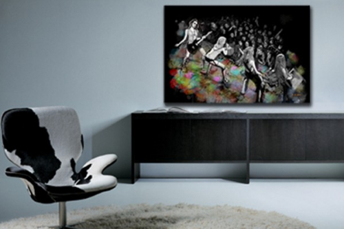 Tableau moderne Rockeuses by Vain