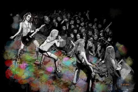 scene concert Rockeuses