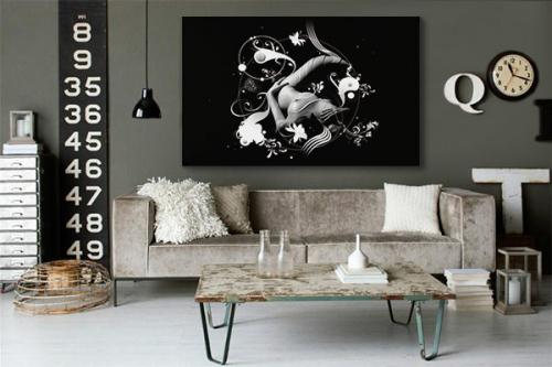 "Tableau contemporain ""Sensual Ying Yang by Yann Wallaert"""