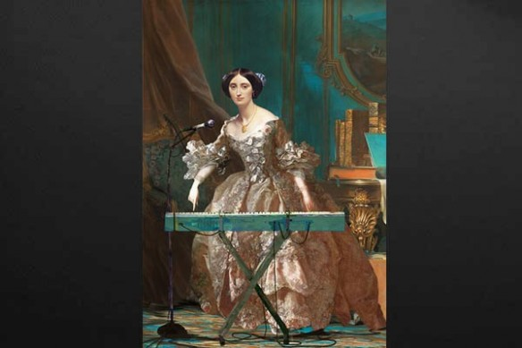 Tableau baroque Milady synthetiseur
