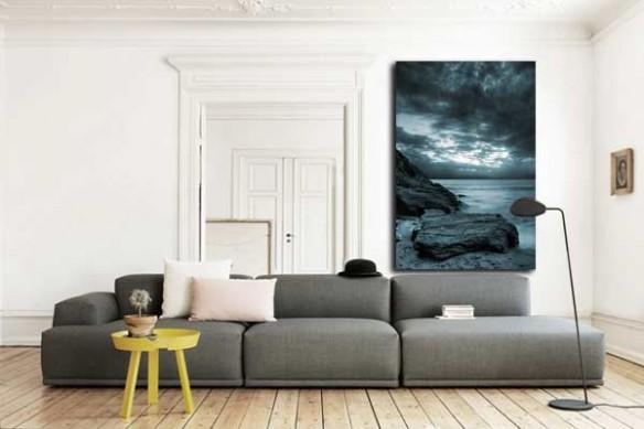Tableau paysage mer et rochers