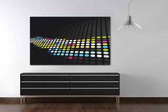 Tableau design moderne ronds couleurs