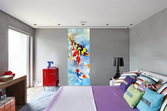 poster mural zen Carpes Kohaku