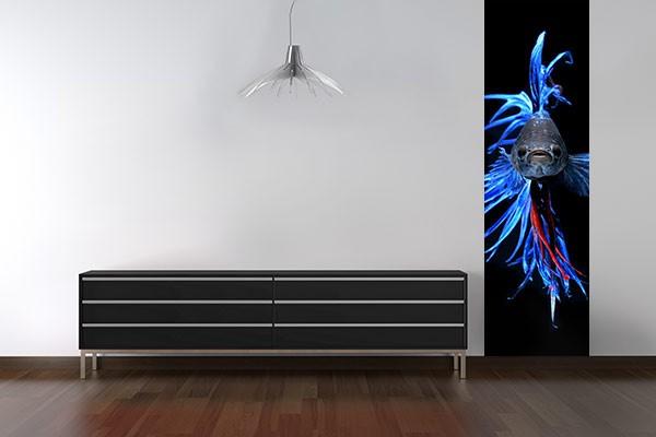 papier peint photo poisson combattant izoa. Black Bedroom Furniture Sets. Home Design Ideas
