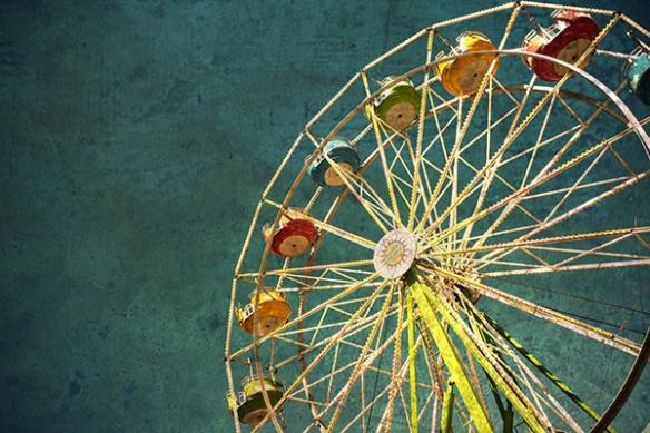 Décoration murale originale roue fete foraine