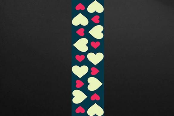 déco romantique lé papier peint coeurs