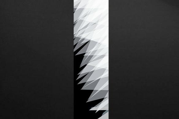 intérieur déco tendance papier peint abstrait gris