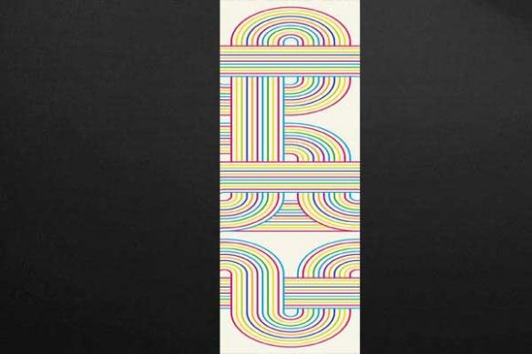 Papier peint original abstrait labyrinthe