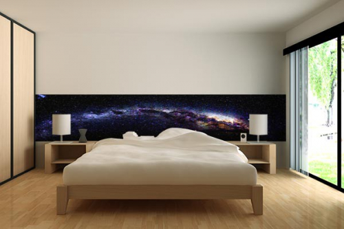 papier peint chambre galaxie izoa. Black Bedroom Furniture Sets. Home Design Ideas