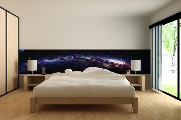 Papier peint chambre galaxie izoa for Tapisserie de chambre a coucher